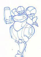 Sketch - Samus by BedBendersInc