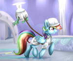 Rainbow and Tank in Weather Factory MLP S5E5
