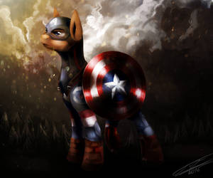 #CAPTAIN AMERICA# (Pony version) by YummiestSeven65
