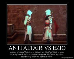 Anti Altair Vs Ezio. by JohnnyTlad