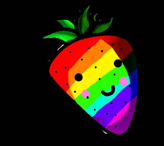 Rainbow Strawberry Pixel Art By Laura Icons On Deviantart