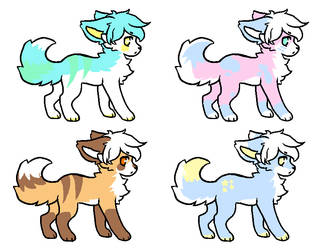 simple fox adopts! by Growlithes
