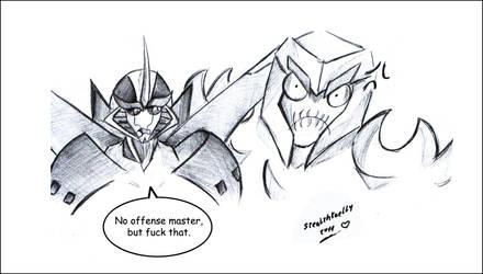 No offense master by MoonRayCZ
