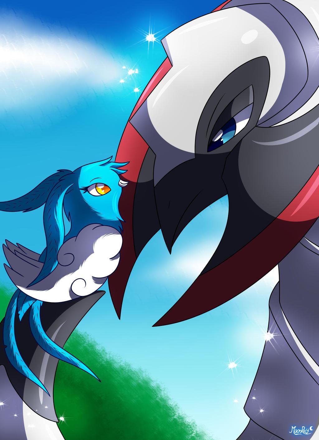 SN: Dragon and soon to be dragon by MoonRayCZ