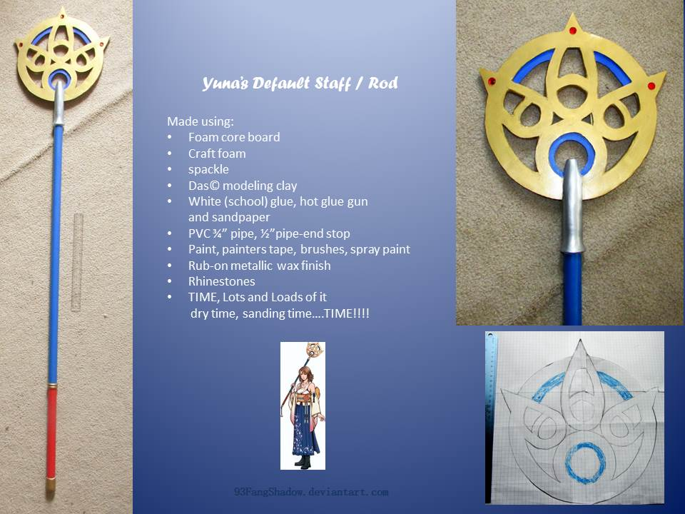 Yuna's Default Staff by 93FangShadow