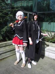 Female Shiro and Kuroh by 93FangShadow