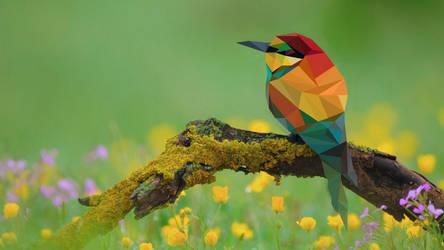 Low-poly bird by MWP4W