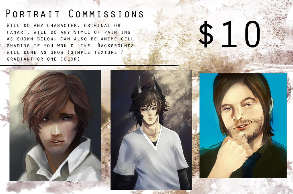 Portrait Commissions [OPEN] by TheLovelessNeko