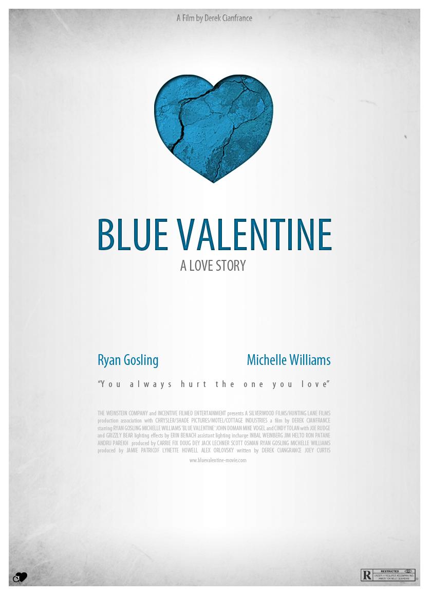 blue valentine movie poster by hussainadil on deviantart