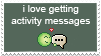 Activity Messages Stamp by StampsAreAwesome