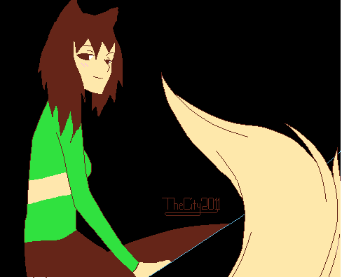 Chara Wolf (A Base Was Used, Don't Hate) by YunikonUnicorno