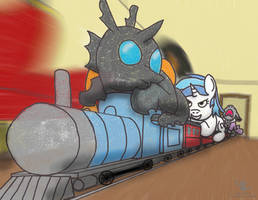 Train Chase Revisited by Scyphi
