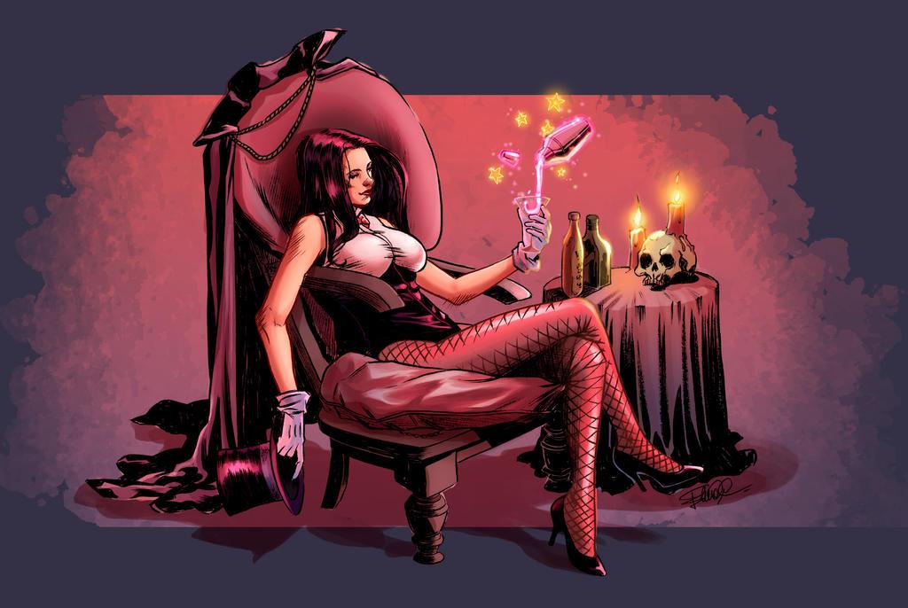 Zatanna's magic relax by the-silverware