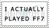 I actually played ff7 Stamp by AwesomeStamps