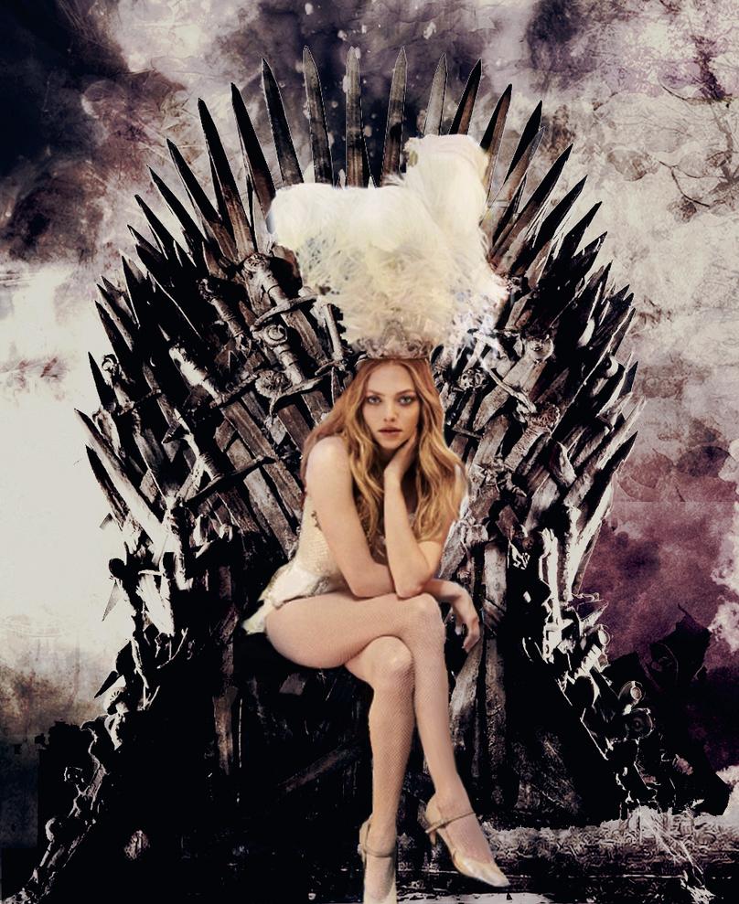 Amanda seyfried iron throne 2 by marapontmercy on deviantart for Iron throne painting