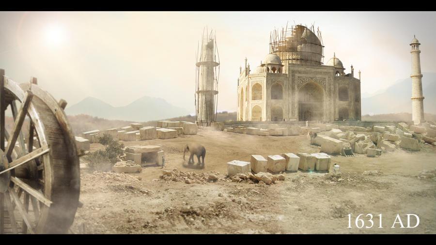 Taj Mahal Building Materials