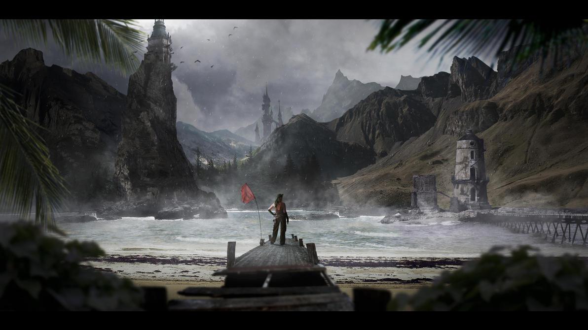 Fantasy Matte Painting by leostarkoneru