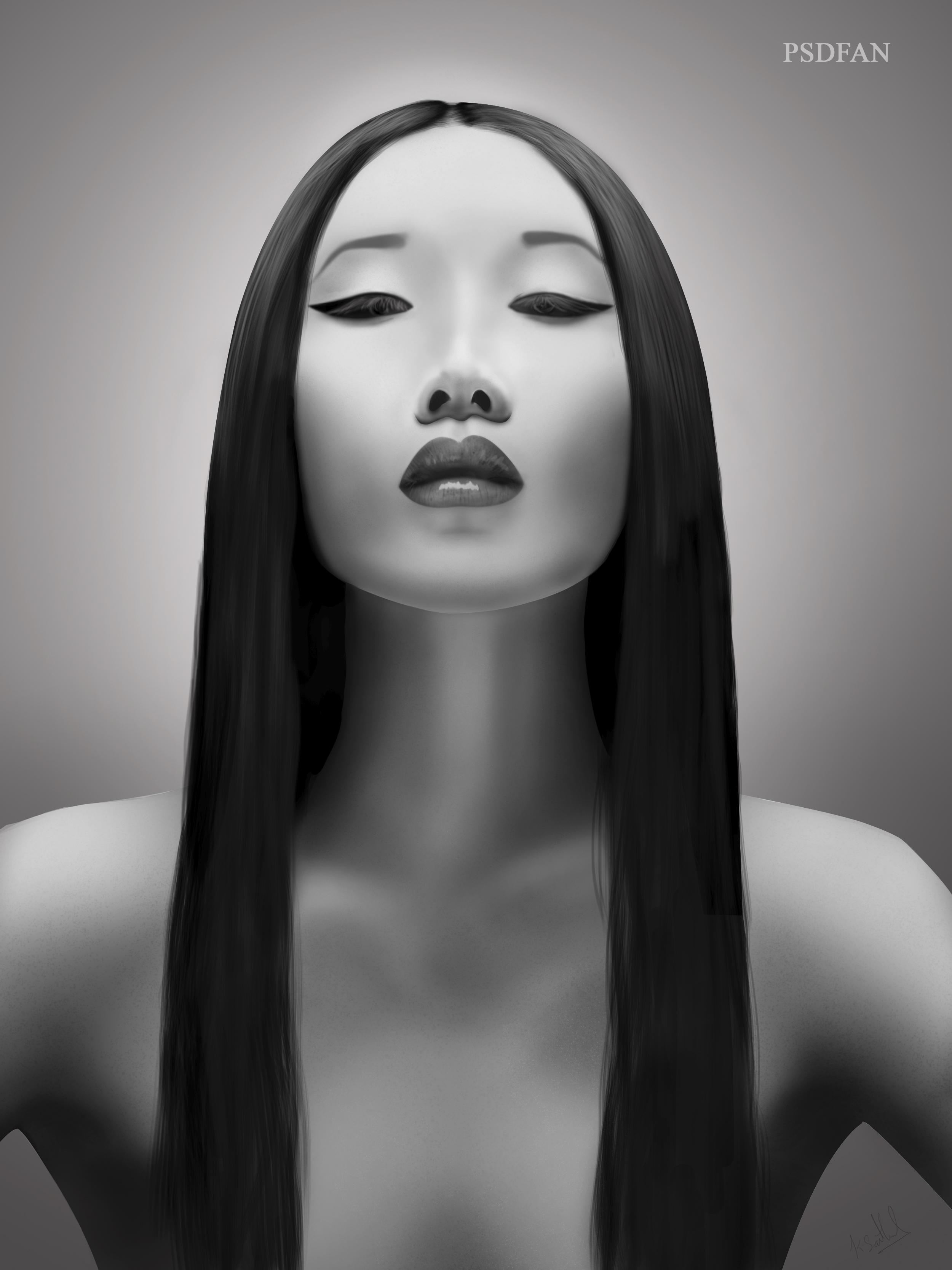 Model Digital Painting