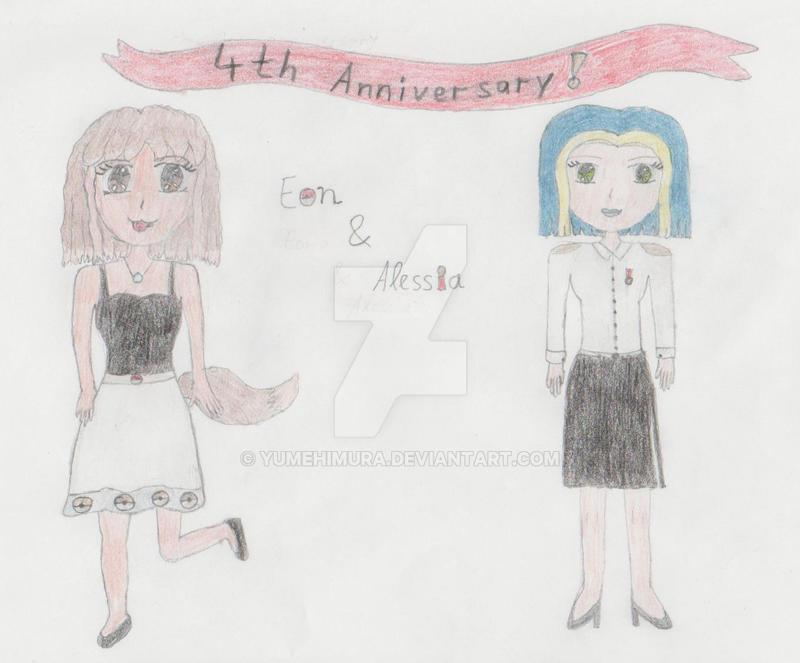 Eon + Alessia - 4th Anniversary by YumeHimura