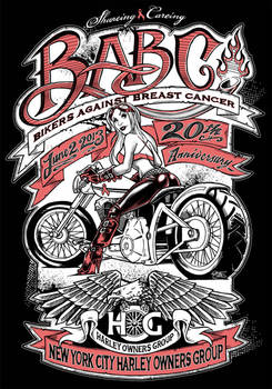 NYC Hogs Bikers Against Breast Cancer Art
