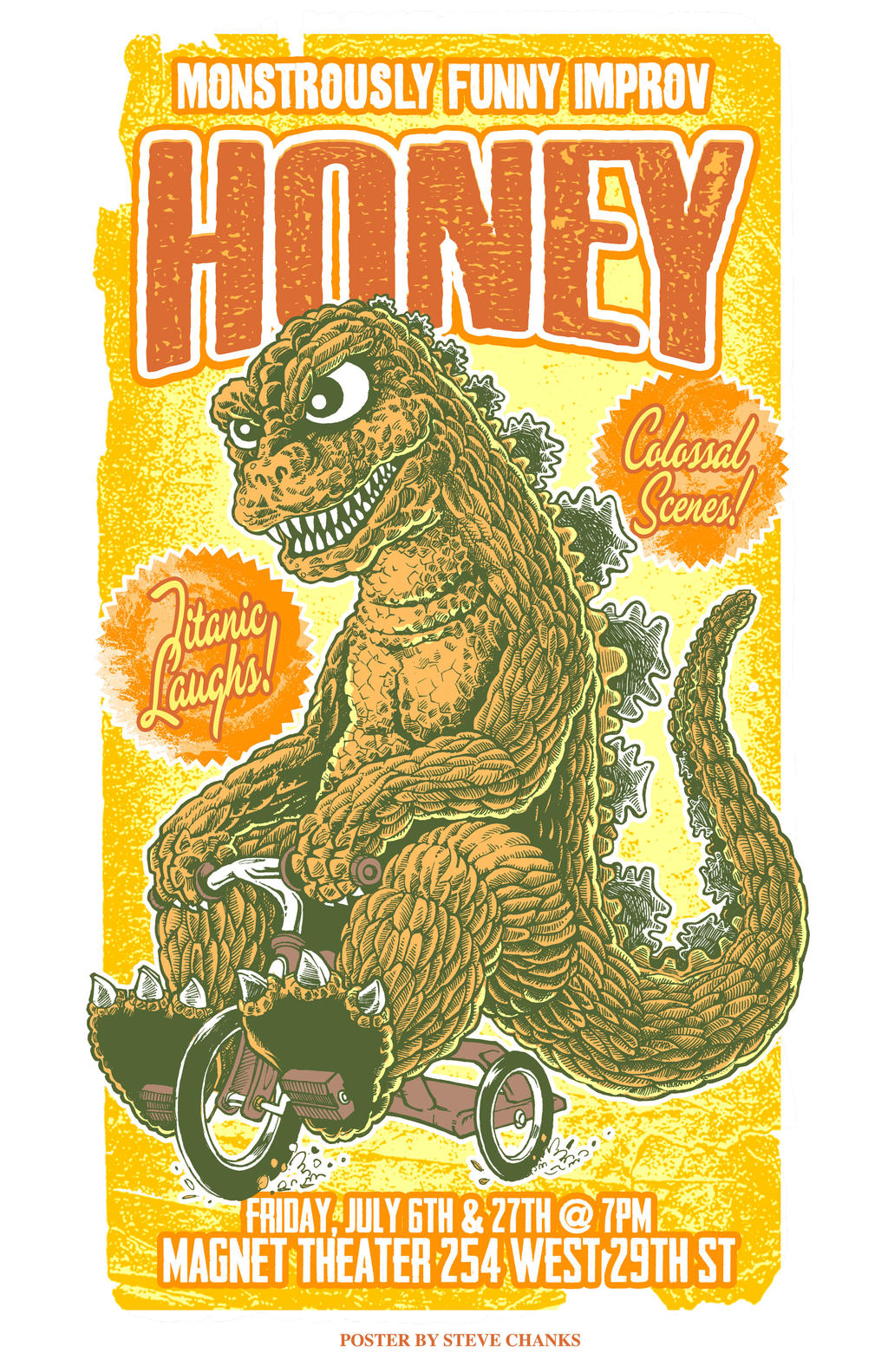 Honey, Monstrously Funny Improv by SteveChanks