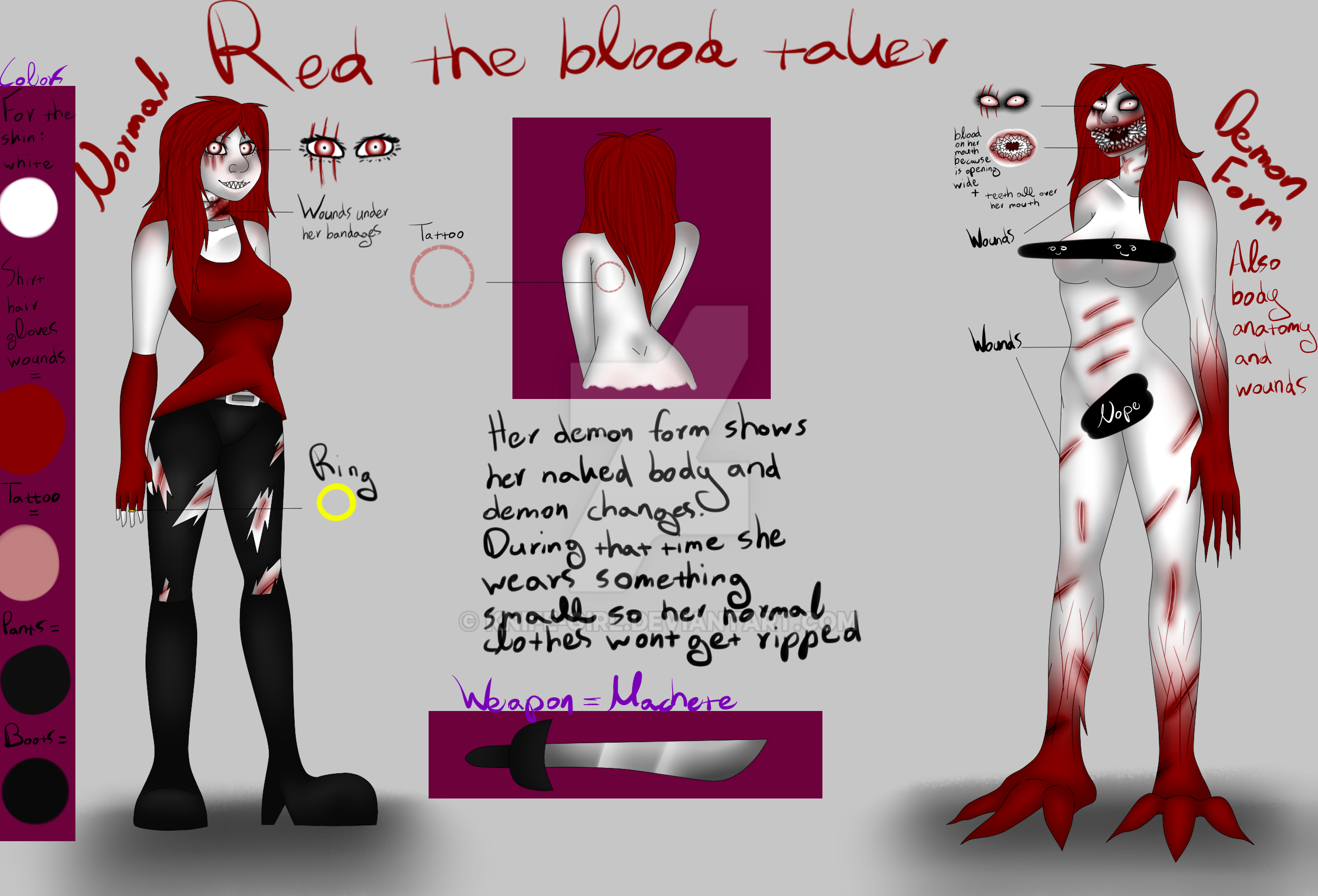 Red the blood taker Ref by Knife-Girl on DeviantArt