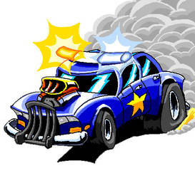 Cartoonz style cop car by ARMORMAN