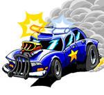 Cartoonz style cop car