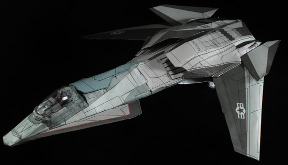 Stealth movie Talon papercraft by ARMORMAN