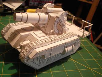 40K IG Medusa Siege Gun paper
