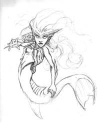 Mermaid sketch by ARMORMAN