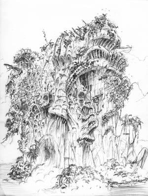 Forgotten alien structure