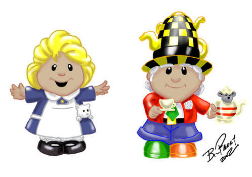 Alice/Mad Hatter toy figure concept