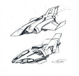 A pair of Star Fighters circa 1995