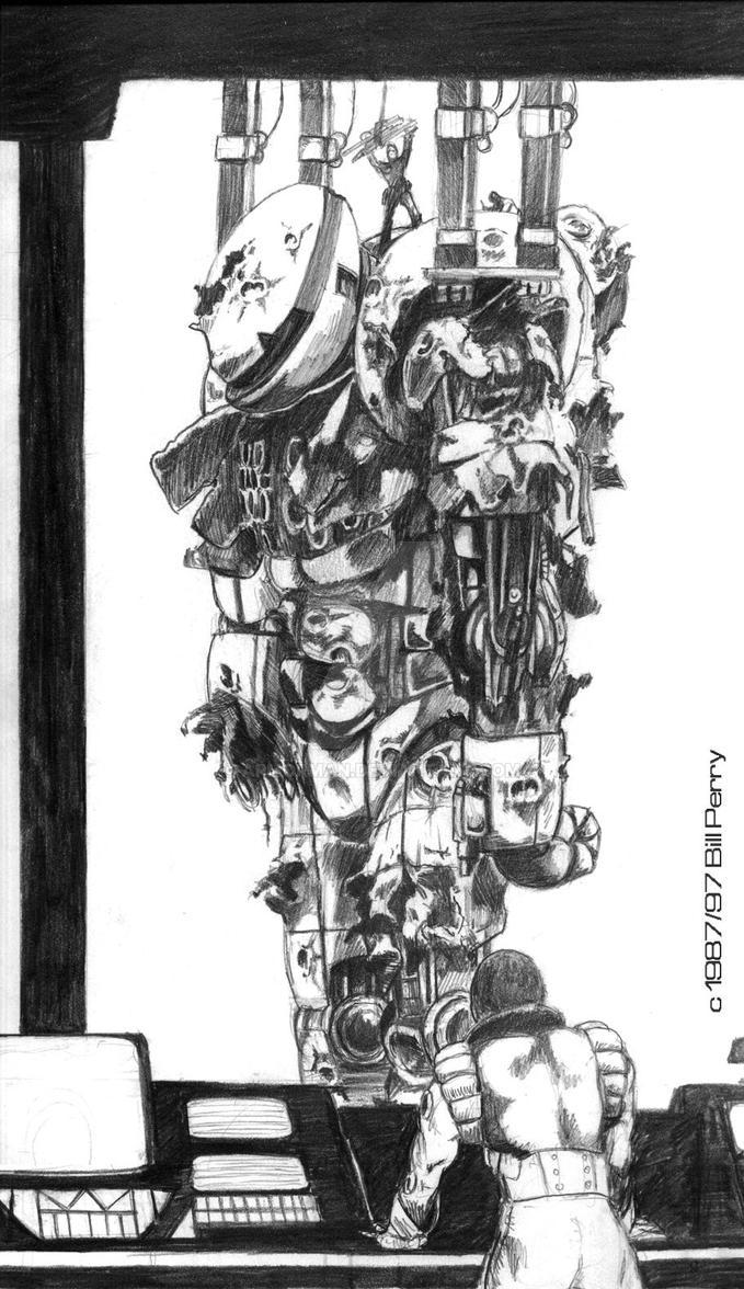 Wrecked Mech Lettr by ARMORMAN