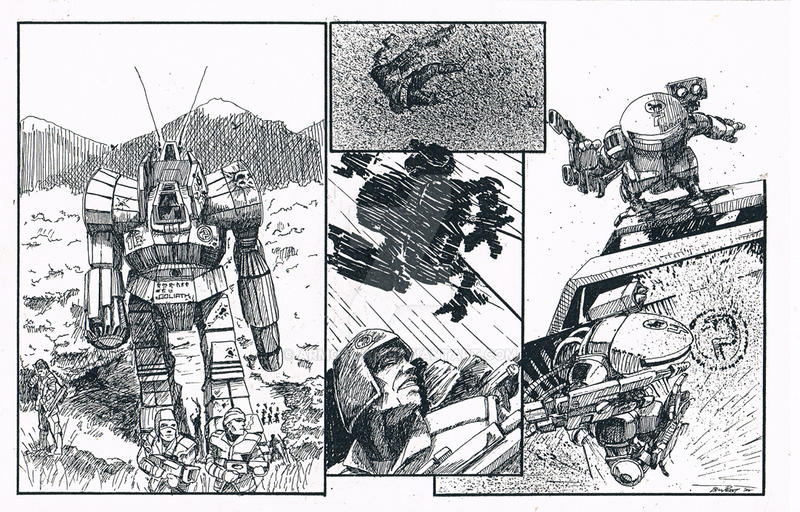 Battletech MINIMECH COMIC 1989 by ARMORMAN