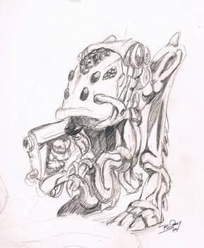 '89 Alien Warrior Sketch