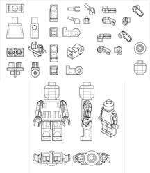 Lego Man 3D Minifig Reference