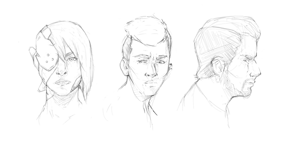 Face Sketches by DeathGuaranteed
