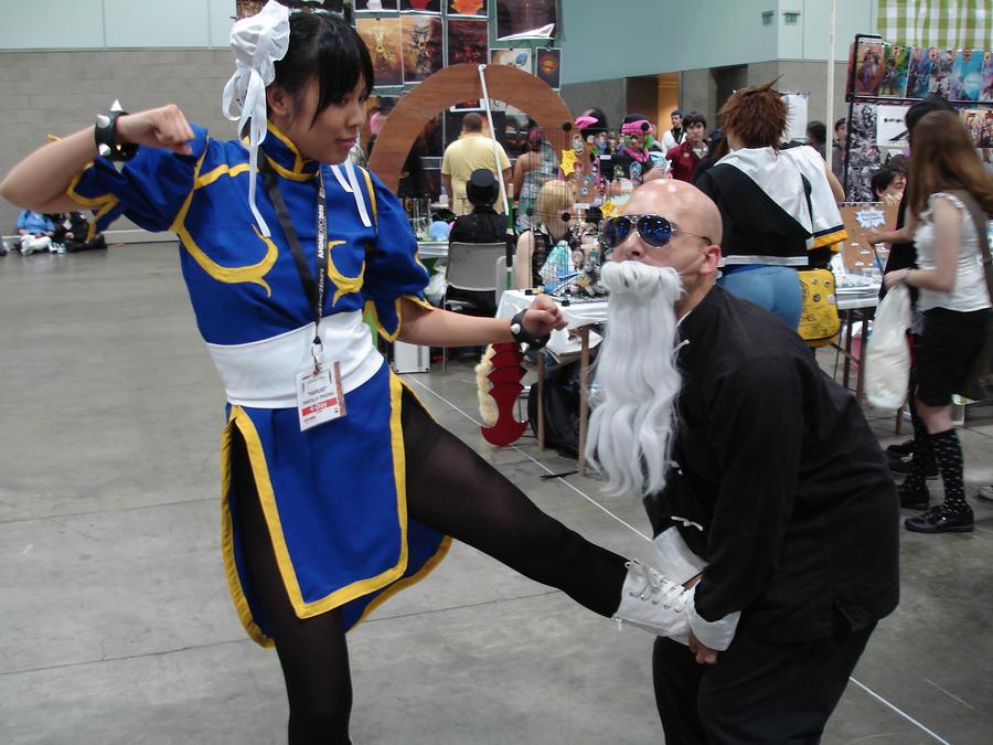 AX 2011 Chun Li VS Master Roshi by LordKojay