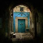 Suddenly a blue door