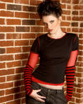 Red and Black Girl Stock 3