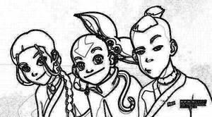 Katara,Aang,and Sokka