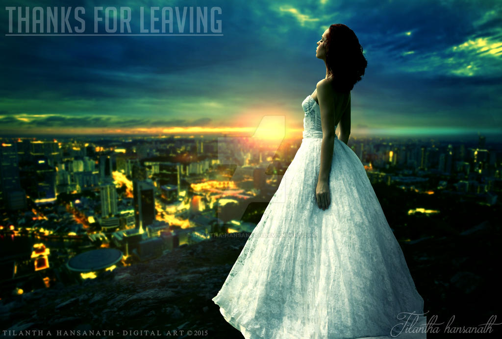 THANKS FOR LEAVING by Tilantha-hansanath
