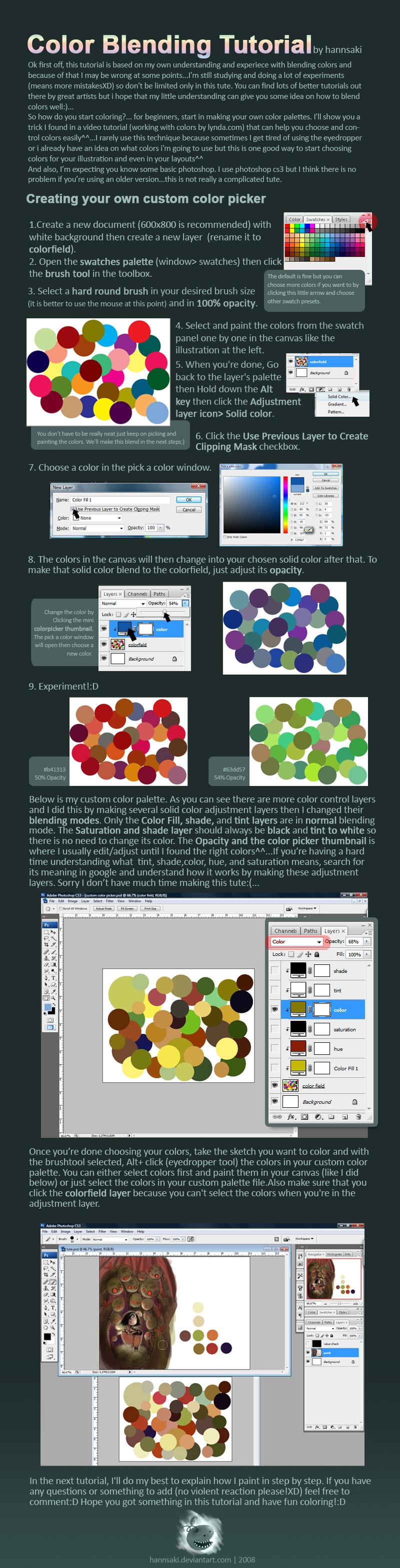 color blending tutorial by hannsaki