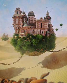 Desert land.