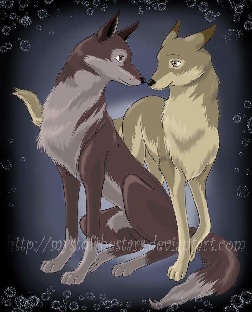 Mystofthestars myst deviantart - Anime wolves in love ...