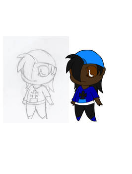 Chibi Johnny (Sketch/FlatColor)