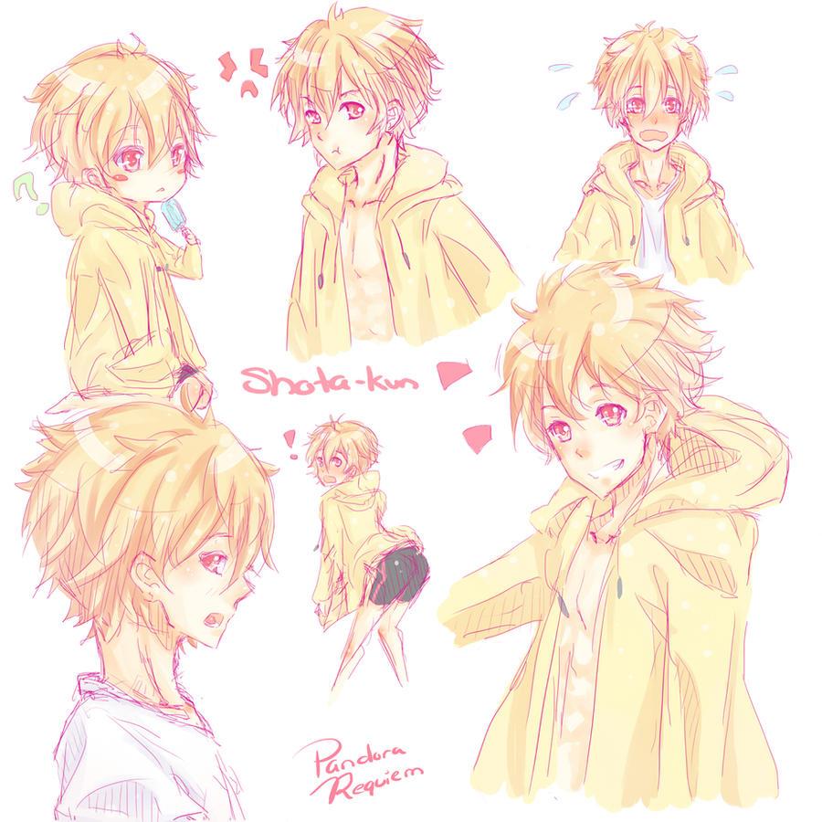 Swimming anime Shota-kun by PandoraRequiem