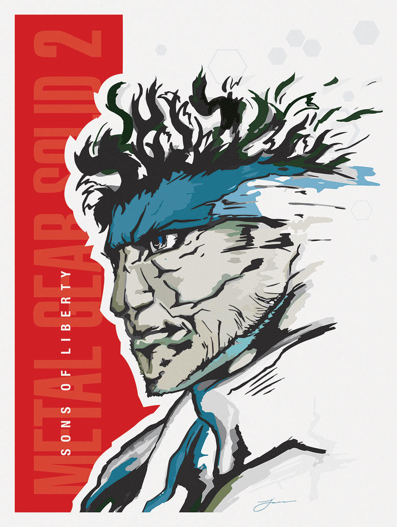 Metal Gear Solid 2: Sons of Liberty Poster by Jamie19ization
